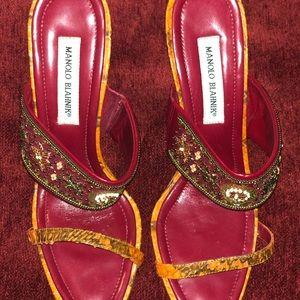 Manolo Blahnik heels. Women's. Size. Red.